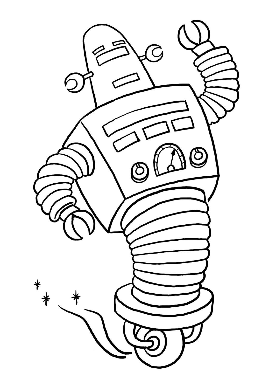 Robots To Color For Children Robots Kids Coloring Pages