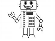 Robots Coloring Pages for Kids