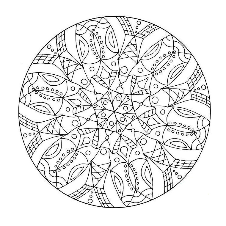 Rosettes coloring page to print and color