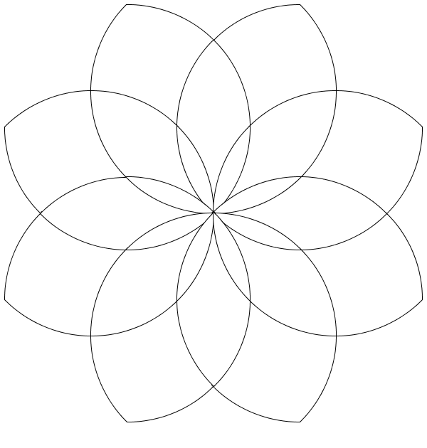 Free Rosettes coloring page to download, for children