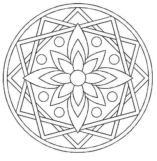Free Rosettes coloring page to print and color