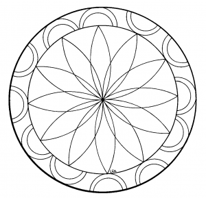 Coloring page rosettes free to color for children