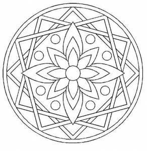 Coloring page rosettes to print