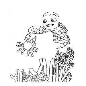 Coloring page samy to color for children