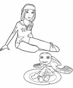 Coloring page samy for kids