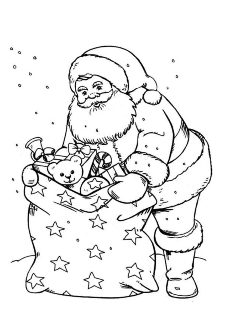 Santa claus free to color for kids - Santa Claus Kids Coloring Pages
