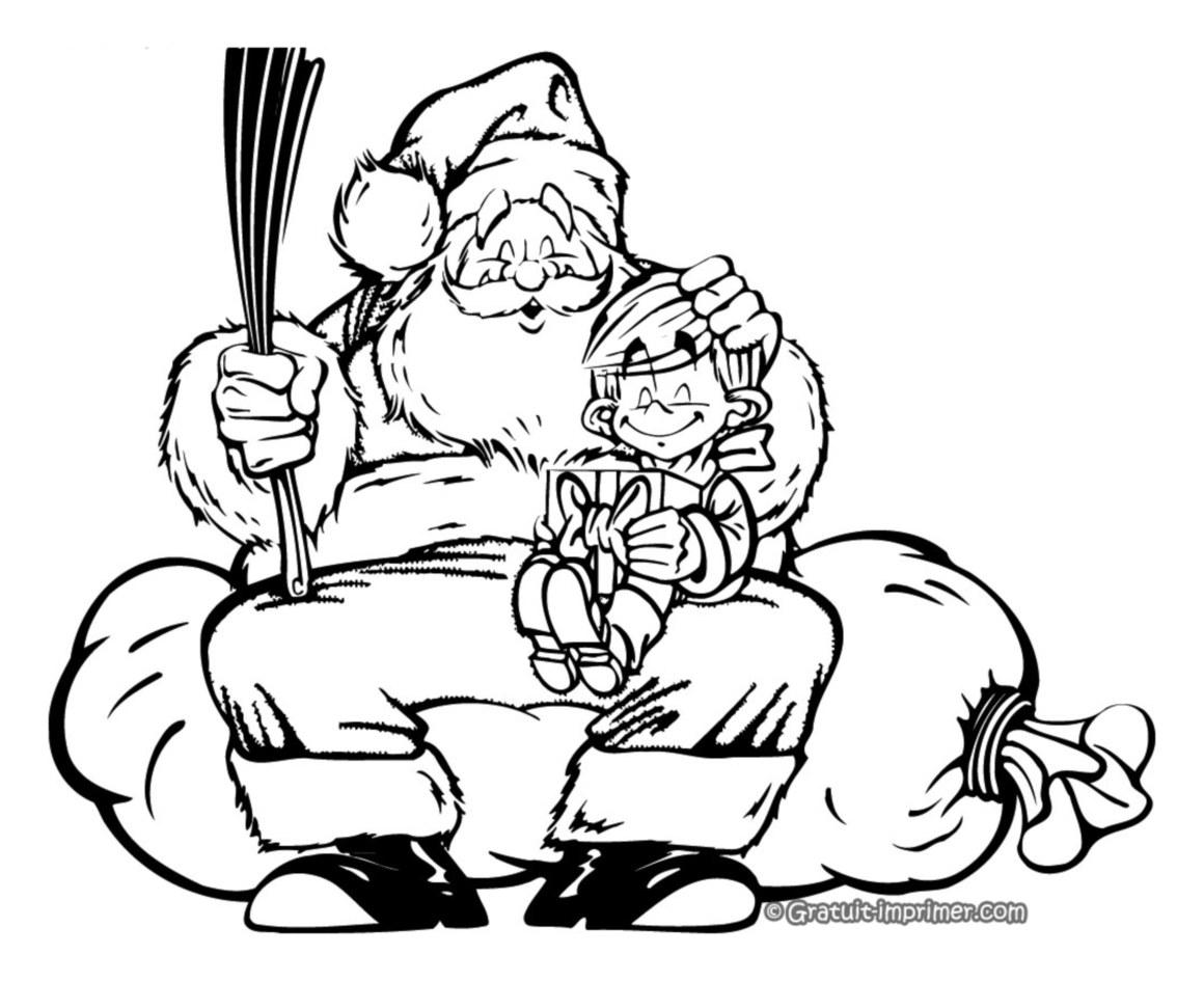 Funny Santa Claus coloring page