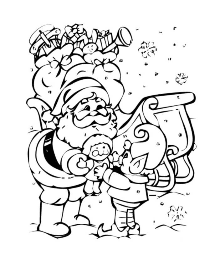 Simple Santa Claus coloring page for kids