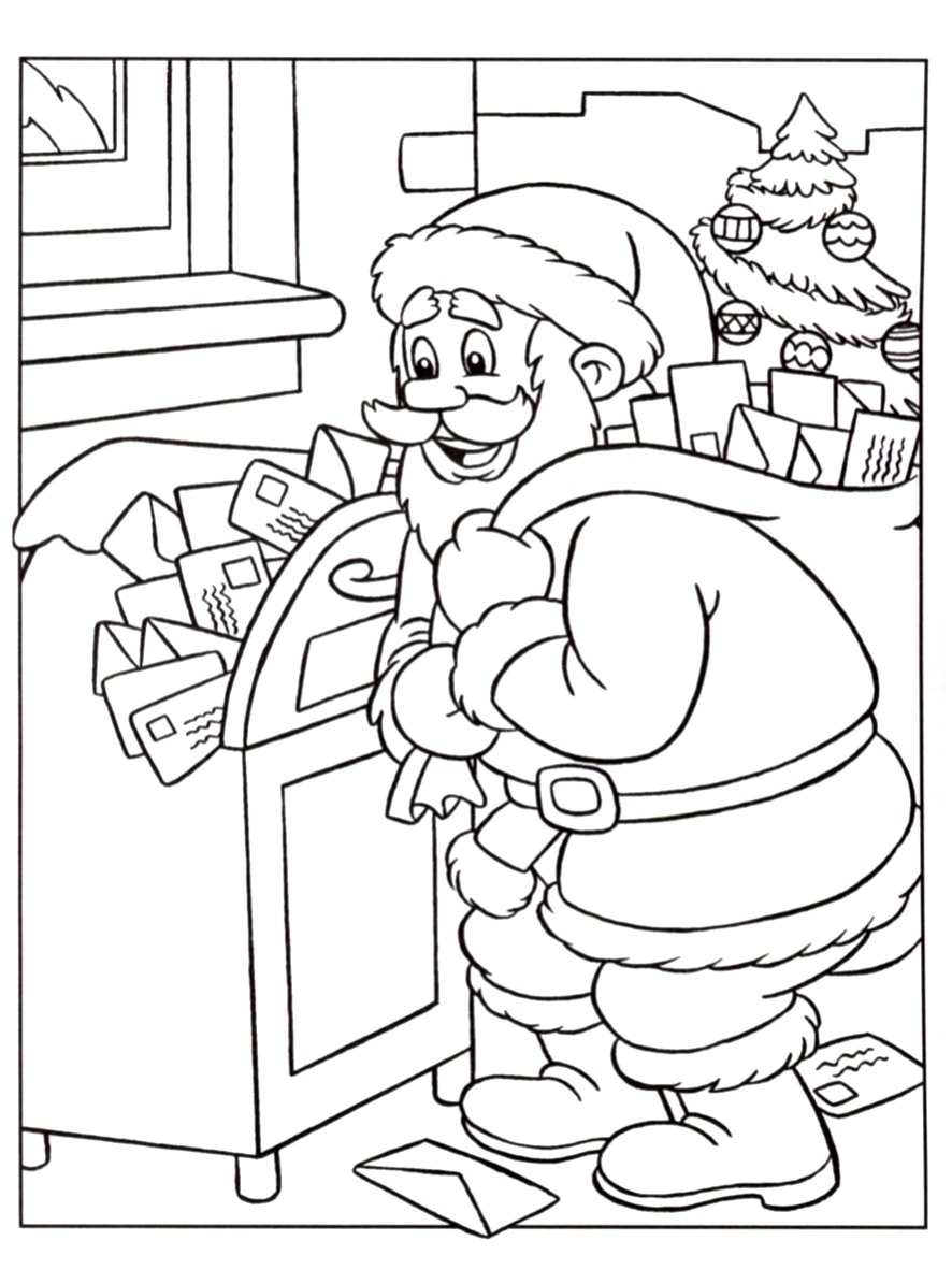 Santa claus for children - Santa Claus Kids Coloring Pages