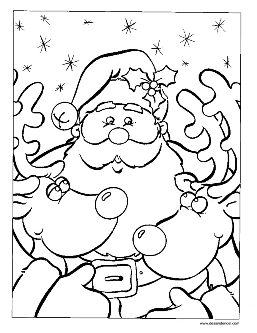 Santa claus to color for kids - Santa Claus Kids Coloring Pages