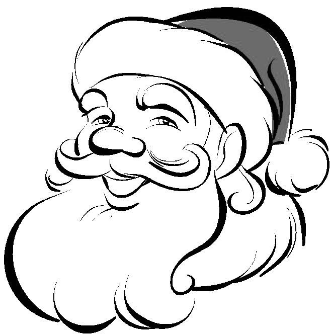 santa claus coloring page to download