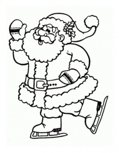 Santa Claus Free Printable Coloring Pages For Kids