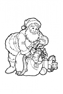 Coloring page santa claus for children