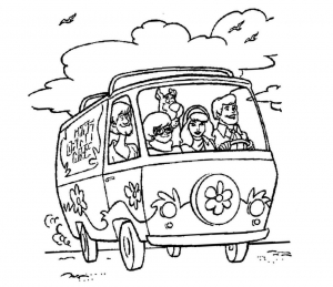 Coloring page scooby doo to download