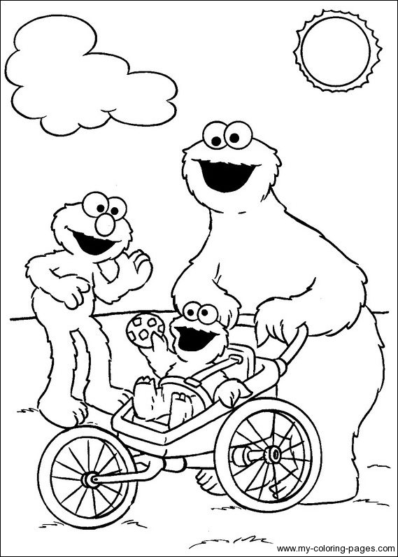 Beautiful Sesame Street coloring page to print and color