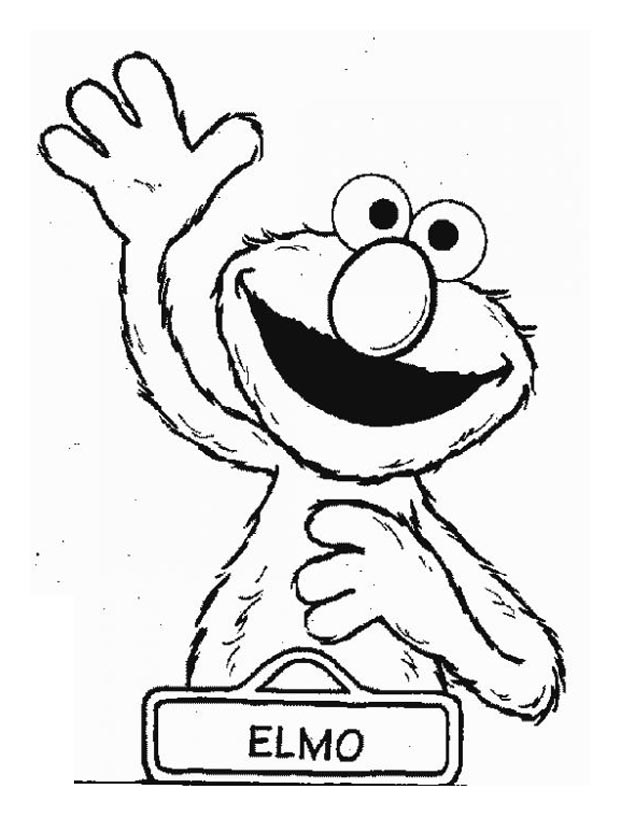 Sesame street to color for children - Sesame Street Kids Coloring Pages