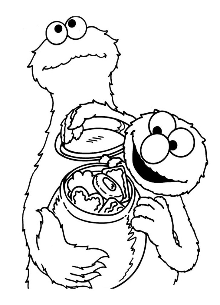 Cute free Sesame Street coloring page to download