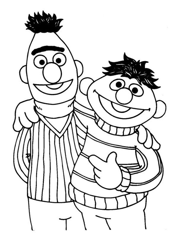 Sesame street to download - Sesame Street Kids Coloring Pages