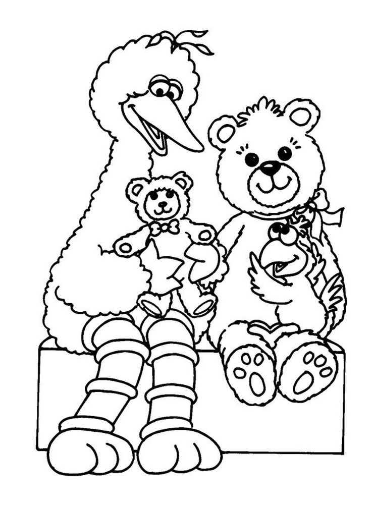 Printable Sesame Street coloring page to print and color