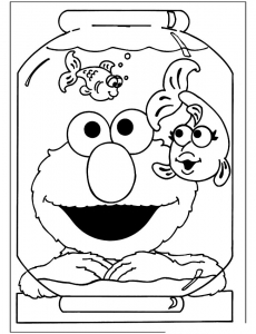 Coloring page sesame street to download for free