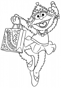 Coloring page sesame street to print for free