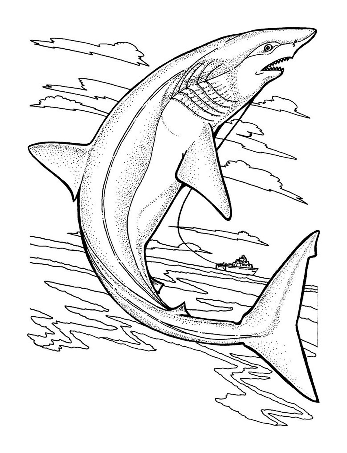 Sharks to print for free - Sharks Kids Coloring Pages