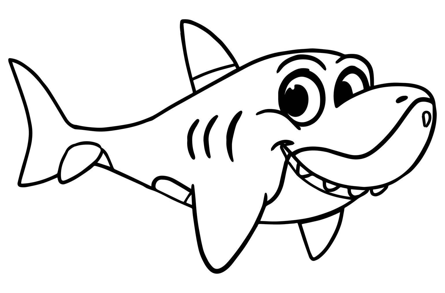 Sharks to color for children - Sharks Kids Coloring Pages