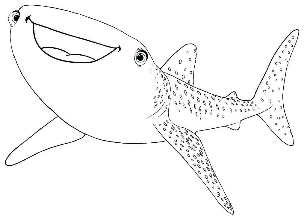 Sharks free to color for children - Sharks Kids Coloring Pages