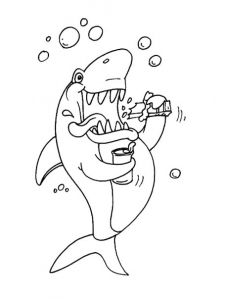 Coloring page sharks for kids
