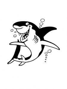 Coloring page sharks to download