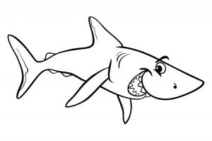 Coloring page sharks free to color for children