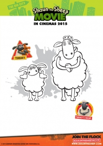 Coloring page shaun the sheep for children