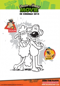 Coloring page shaun the sheep to print for free