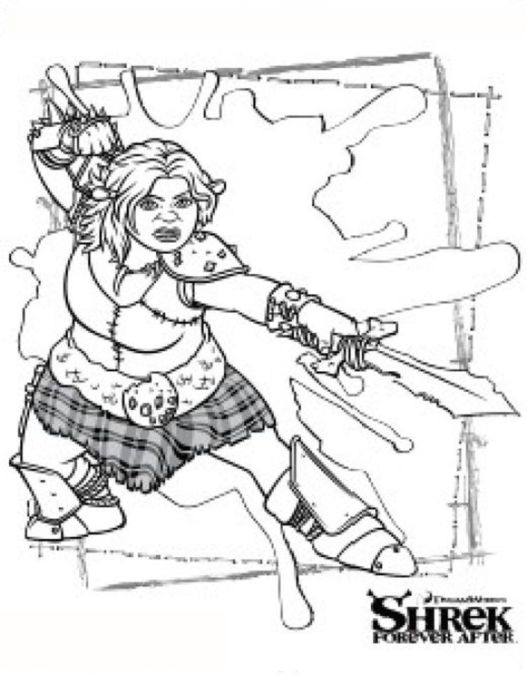 Shrek coloring page to print and color for free