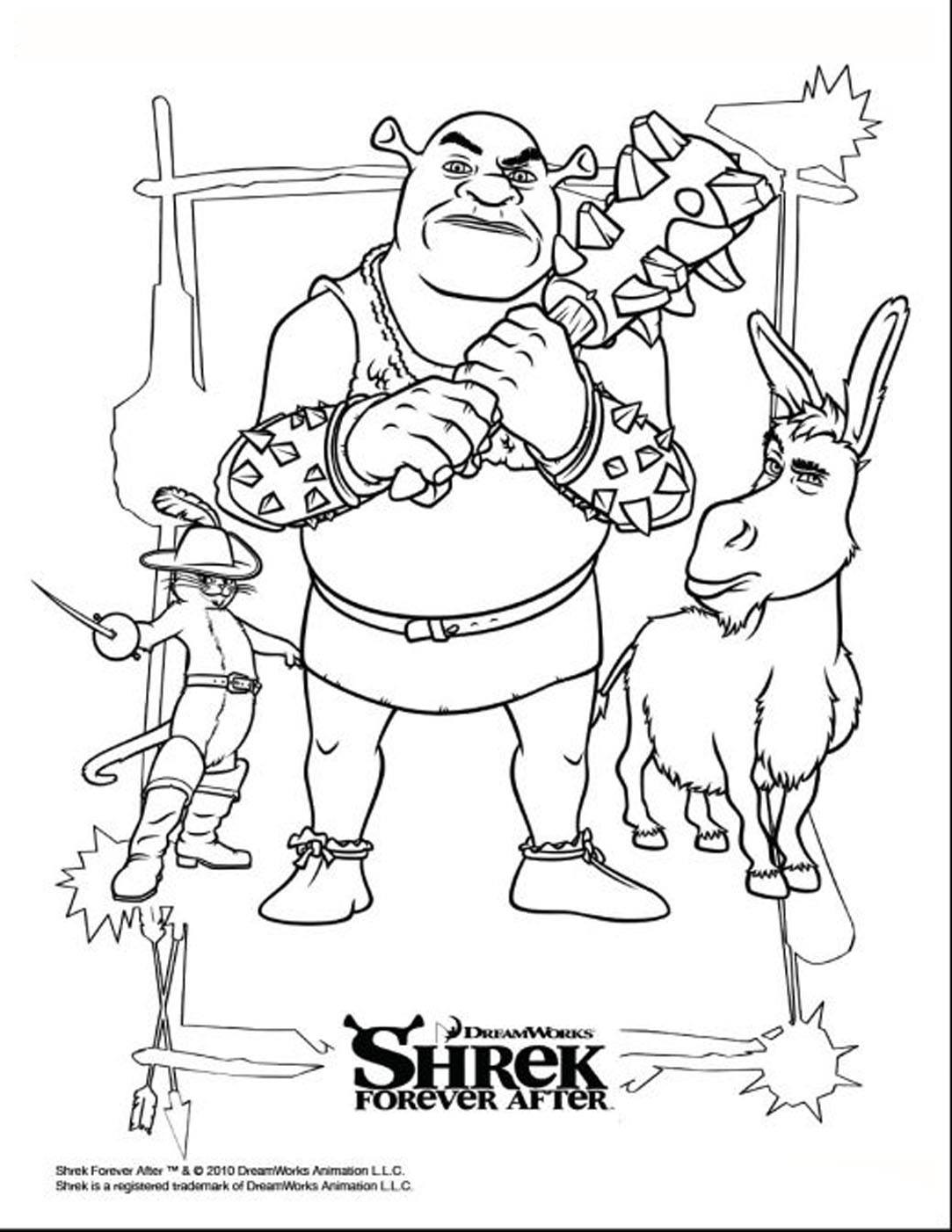 Shrek coloring page to download