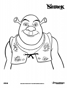 Coloring page shrek to print