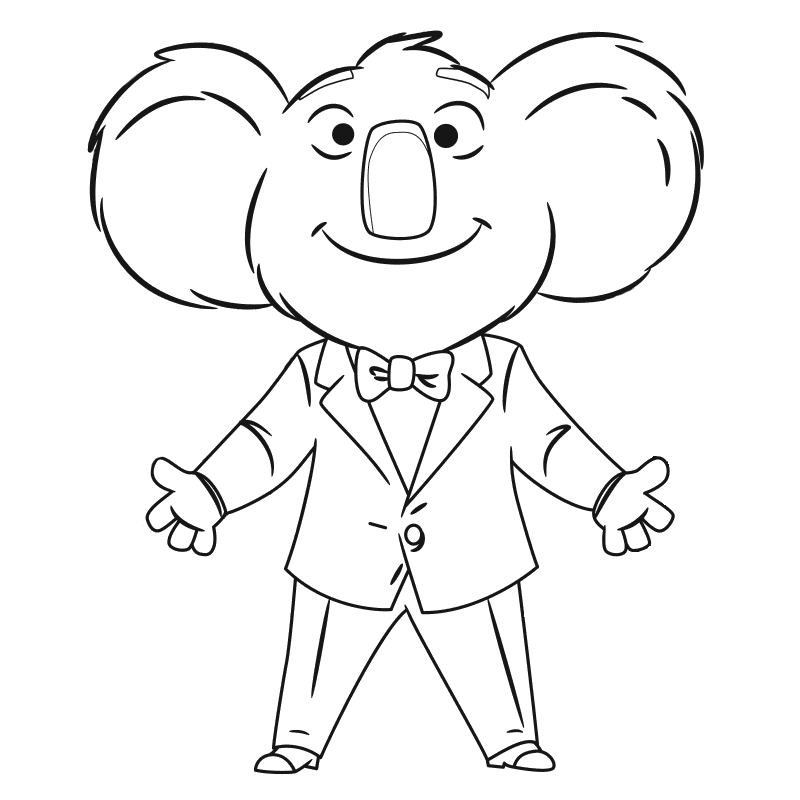 Simple Sing coloring page for children