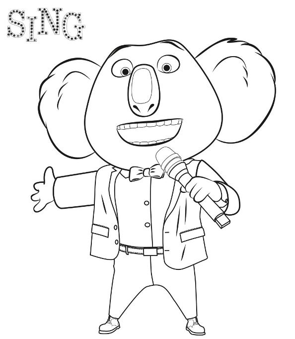 Incredible Sing coloring page to print and color for free