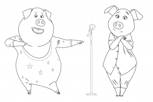 Coloring page sing free to color for children