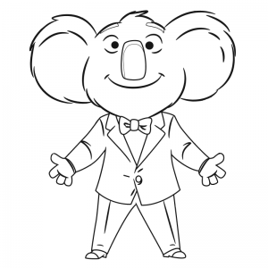 Coloring page sing for kids