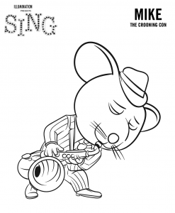 Coloring page sing to download for free