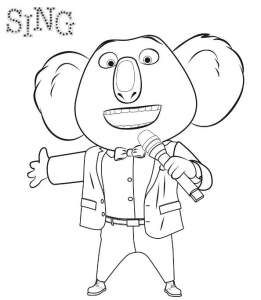 Coloring page sing to color for kids