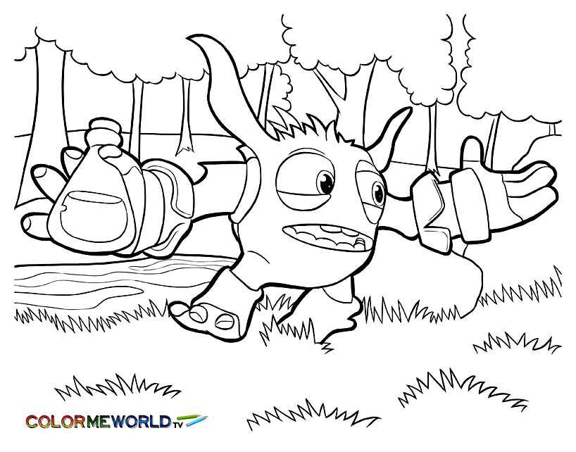 Free Skylanders coloring page to print and color