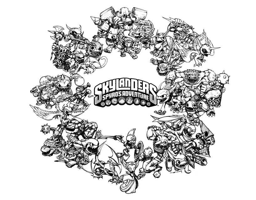 Skylanders Trigger Happy coloring page | Free Printable Coloring Pages | 637x818