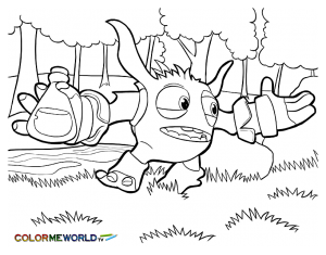 Coloring page skylanders for kids