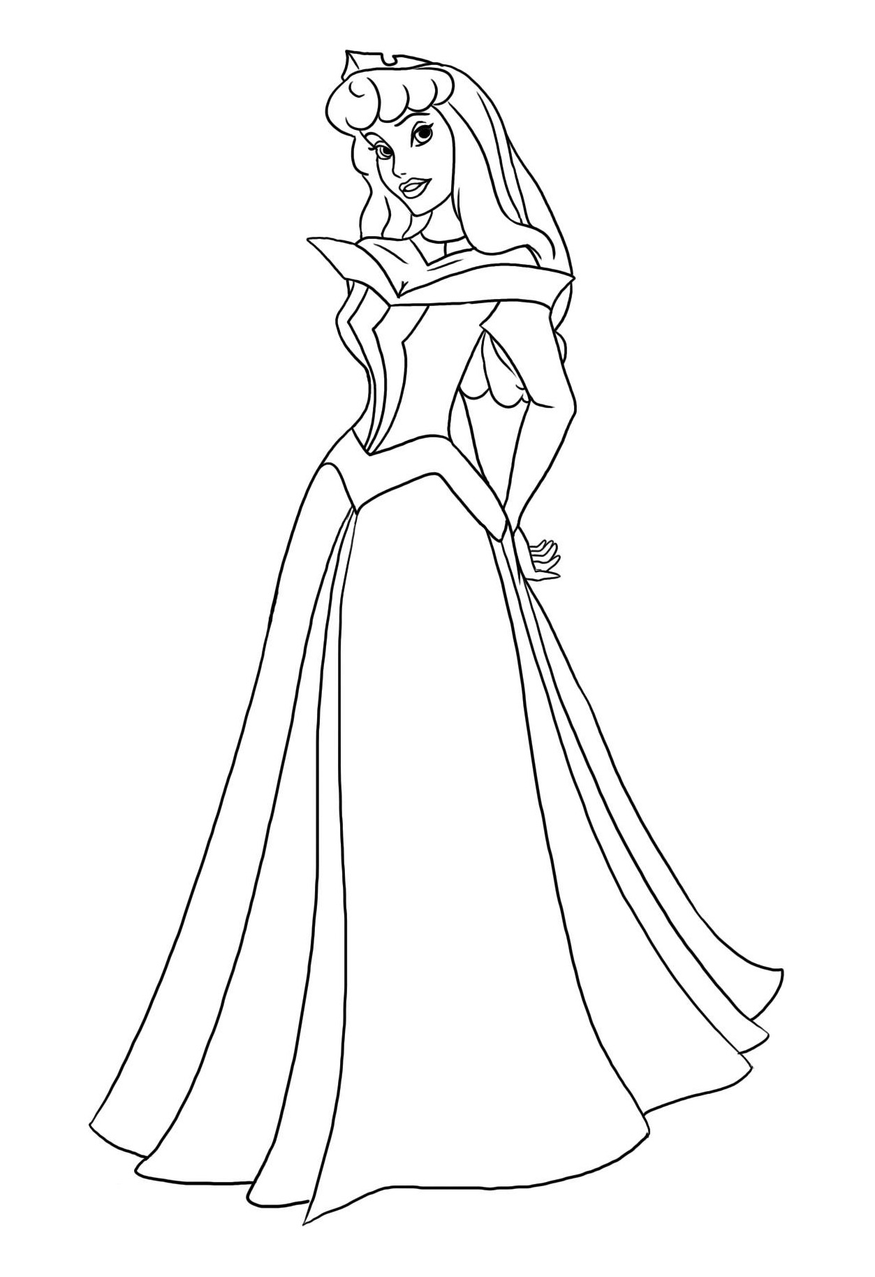 Coloring Pages Cartoons Sleeping Beauty