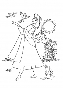 Coloring page sleeping beauty to download for free