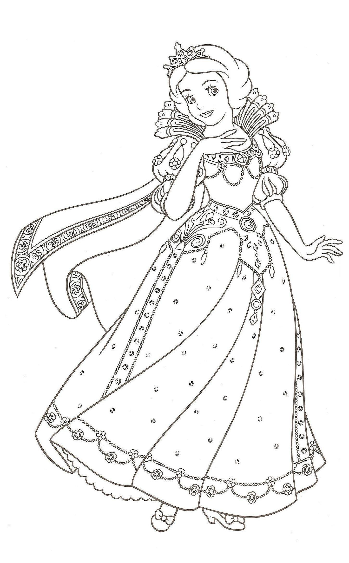 Snow White Kids Coloring Pages