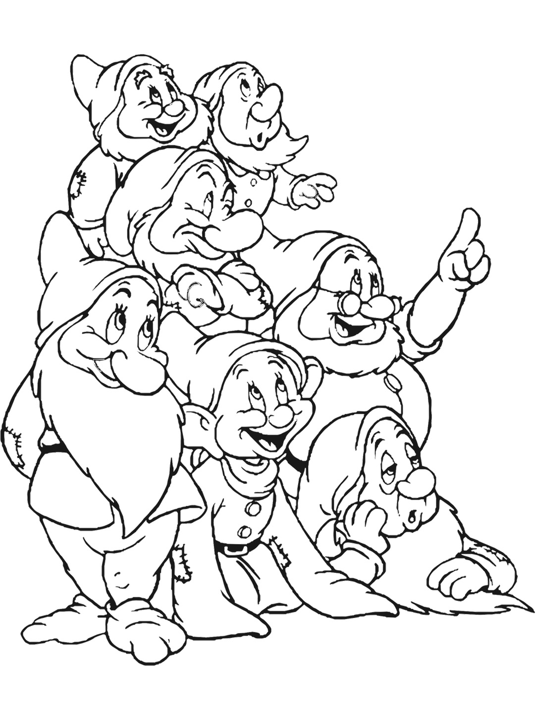 Snow White coloring page to print and color for free
