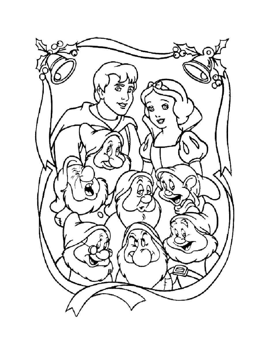 Funny Snow White coloring page for kids